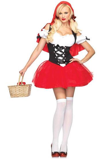 Le Frivole Наивная Красная Шапочка Платье с подъюбником, накидка и ленты-завязки