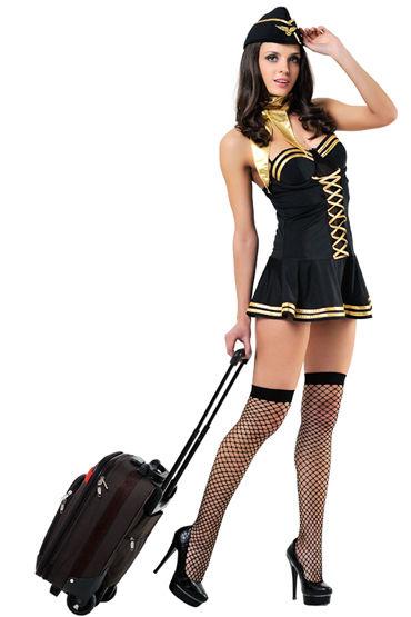 Le Frivole Милая стюардесса, Платье, шарфик, пилотка и чулки - Размер S-M