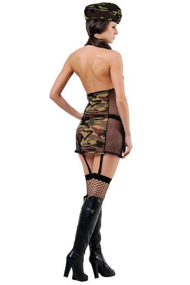 Le Frivole Военная академия Платье, пилотка и чулки