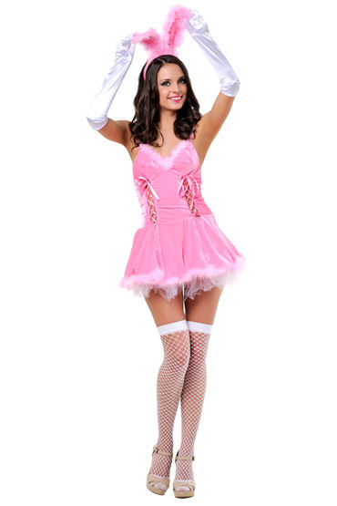 Le Frivole Зайка, Платье, перчатки, ушки и чулки - Размер S-M