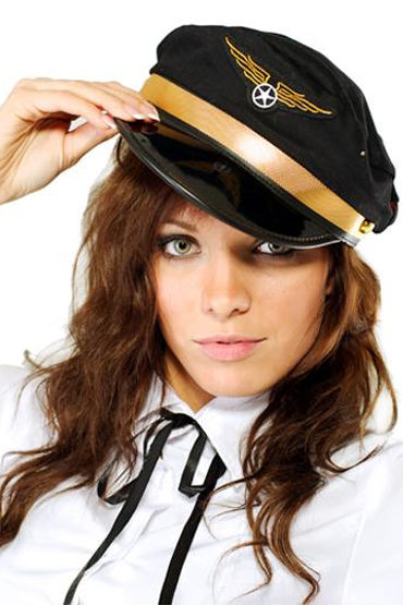 Le Frivole шляпа авиатора С нашивкой