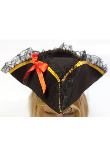 Le Frivole шляпа, Треуголка пиратская - Размер Универсальный (XS-L)