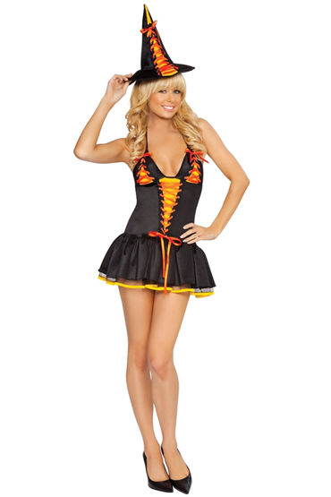 Le Frivole Вредная ведьмочка, Очаровательное платье и шляпа - Размер S-M от condom-shop.ru