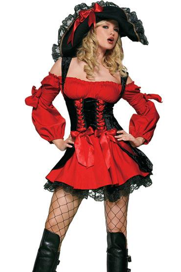 Le Frivole Средневековая пиратка, Роскошное платье с длинными рукавами - Размер S-M
