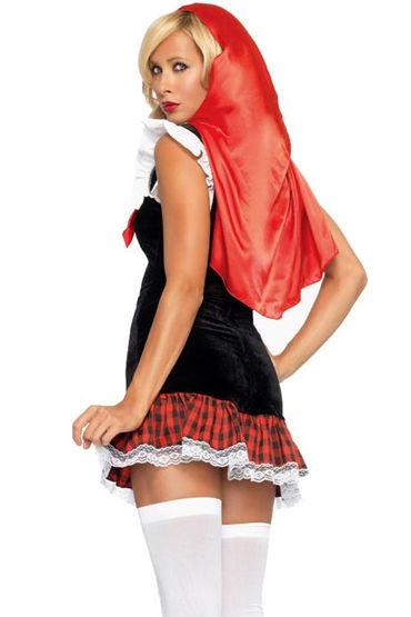Le Frivole Юная Красная Шапочка Мини-платье с накидкой