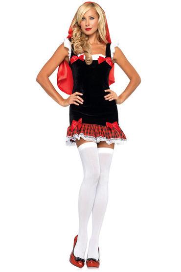 Le Frivole Юная Красная Шапочка, Мини-платье с накидкой - Размер S-M