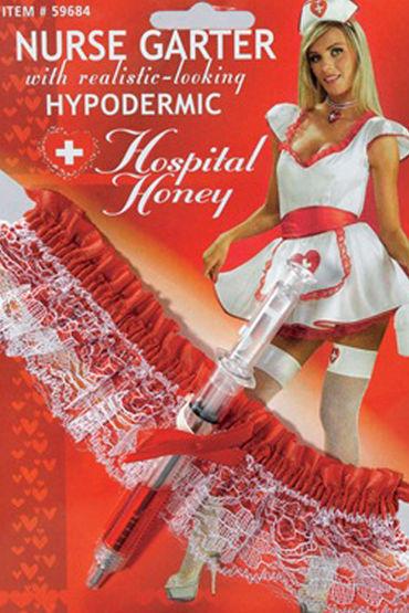 Le Frivole подвязка медсестры, Со шприцом - Размер Универсальный (XS-L) от condom-shop.ru