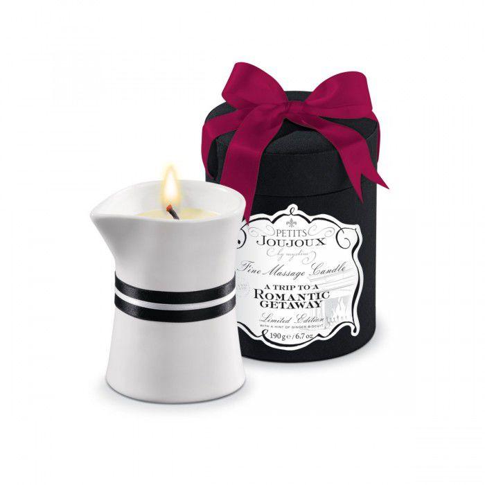Mystim Petits Joujoux A trip to a Romantic Getaway, 190г, Свеча для массажа с ароматом имбирного печенья от condom-shop.ru