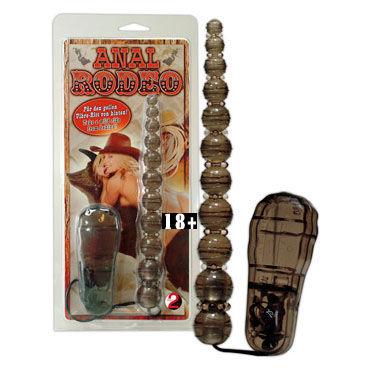 Anal Rodeo, черные Анальные шарики с вибрацией