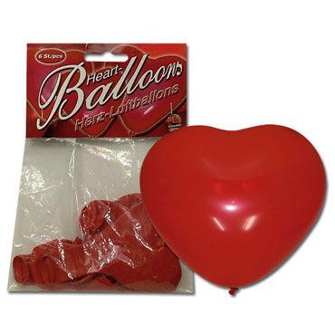 Надувные Шары в Форме Сердец, 6 штук Эротический предмет