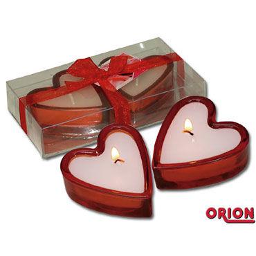 Свечи в Форме Сердца, 2 штуки Эротический предмет