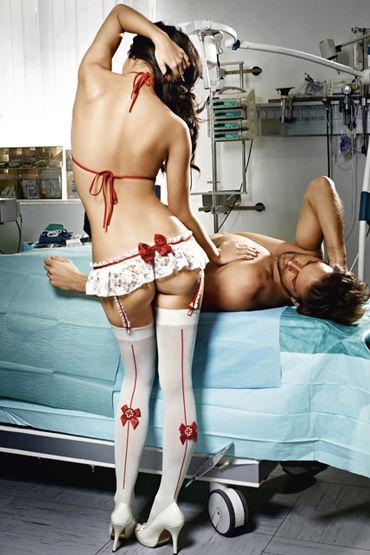 Baci Медсестра Профи Топ и мини-юбка с подвязками