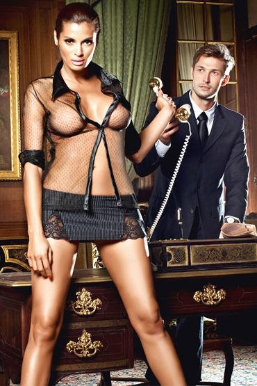 Baci Мечта Босса, Сексапильная блуза и мини-юбка - Размер XL-XXL