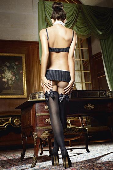 Baci Секретарша Секси Лиф, мини-юбка, воротничок и галстук