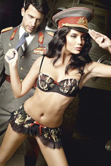 Baci Сексуальная Сержанта Лиф на косточках и мини-юбка