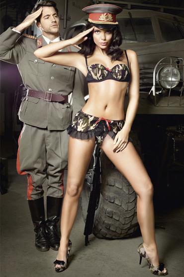 Baci Сексуальная Сержанта, Лиф на косточках и мини-юбка - Размер M-L