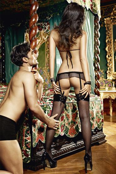 Baci Молния Любви Лиф, мини-юбка, воротничок и манжеты на цепочке