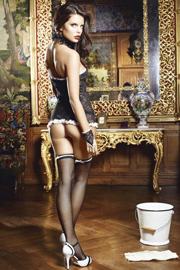 Baci Сексуальная Служанка Мини-платье, воротничок и перчатки