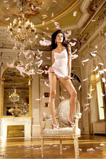 Baci мини-платье, розовое Прозрачное, с кружевом