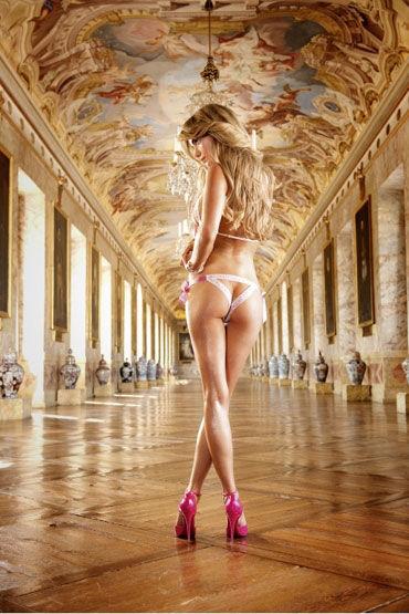Baci комплект, бело-розовый Откровенное смелое белье