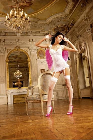 Baci мини-платье, белое С подвязками