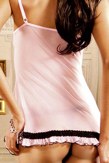 Baci мини-платье, розовое С тонкими бретелями