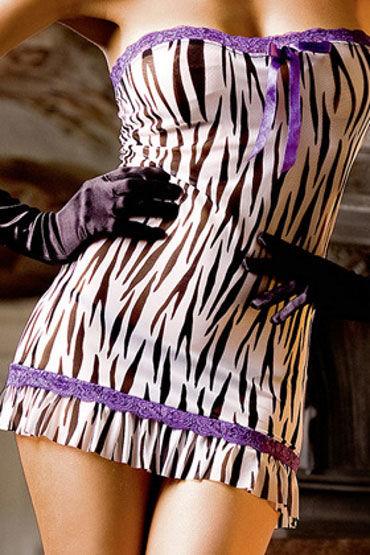 Baci мини-платье, зебра С кружевной отделкой