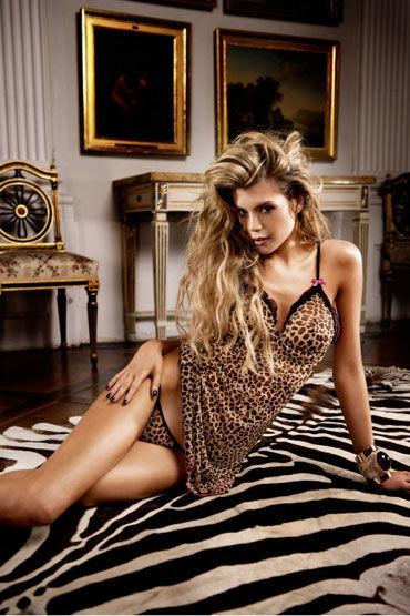 Baci комплект, леопардовый Сорочка с трусиками