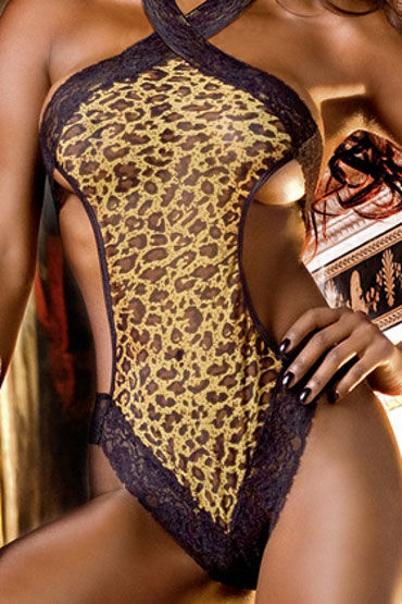 Baci тедди, леопардовое Из сеточки с кружевом