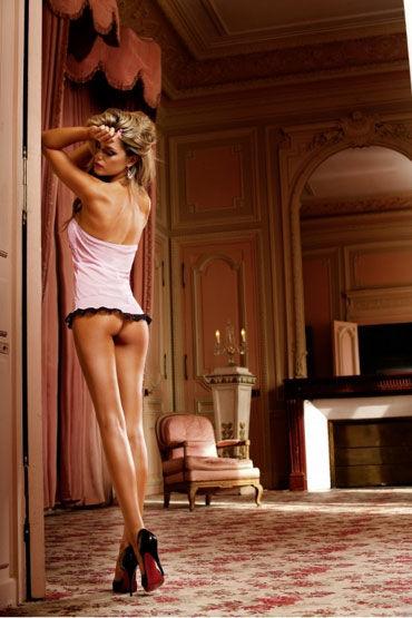 Baci комплект, розовое Пеньюар и стринги