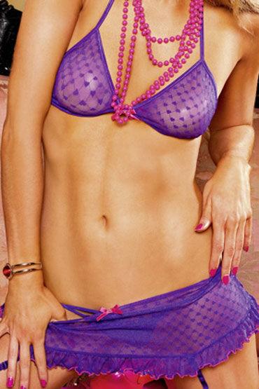 Baci комплект, фиолетовый Лиф и озорная юбочка