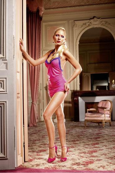 Baci мини-платье, розовое С кружевными бретельками