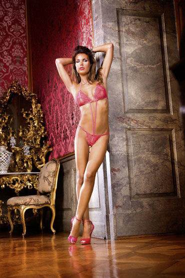 Baci тедди, розовое, С разрезами - Размер Универсальный (XS-L) от condom-shop.ru