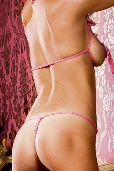 Baci комплект, розовый Откровенный лиф и стринги с разрезами