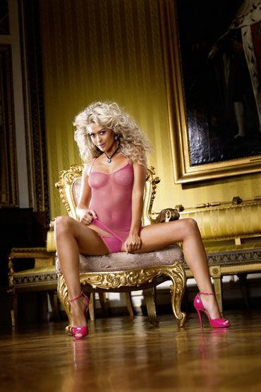 Baci мини-платье, розовое С узкими бретелями