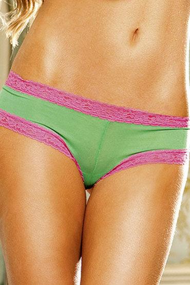 Baci трусики, зелено-розовые Подчеркивающие фигуру