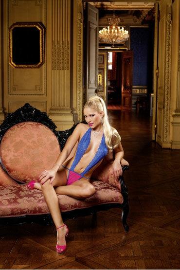 Baci монокини, сине-розовое, С глубоким декольте - Размер Универсальный (XS-L) от condom-shop.ru