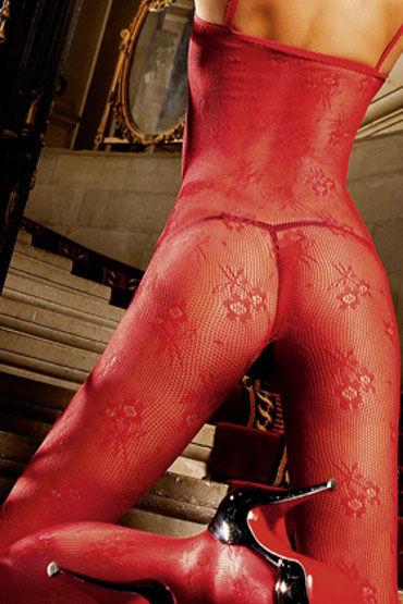 Baci кэтсьюит, красный На бретельках, с вырезом