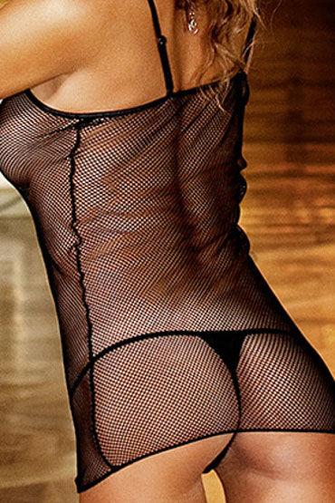 Baci мини-платье, черное С узкими бретелями