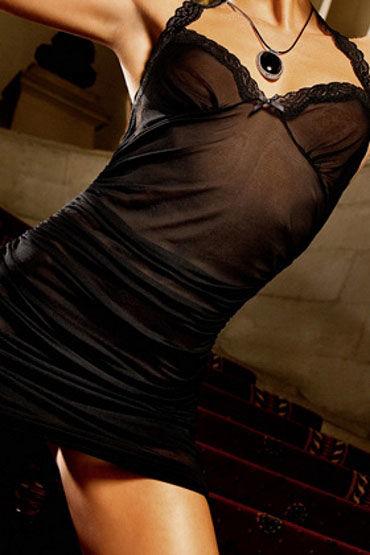 Baci мини-платье, черное С кружевными бретельками