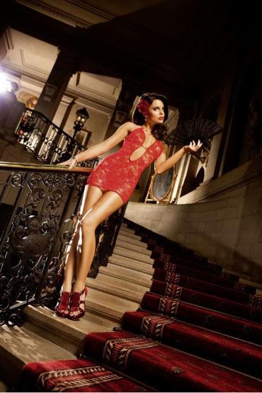 Baci мини-платье, красное С бретелью в виде петли