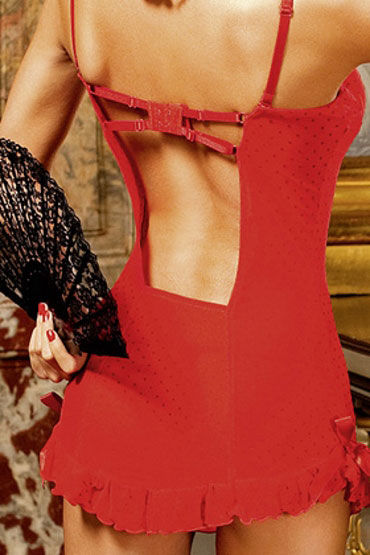 Baci мини-платье, красное С чашечками на косточках