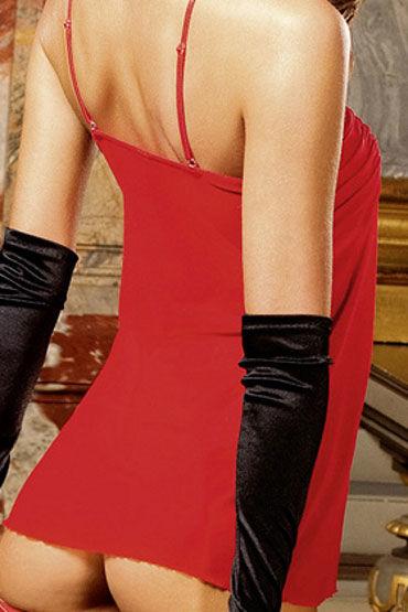Baci комплект, красный Сорочка с драпировкой и стринги