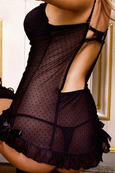 Baci мини-платье, черное С чашечками на косточках