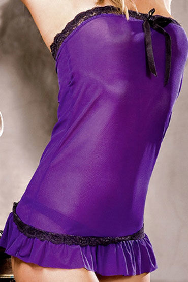 Baci мини-платье, фиолетовое С кружевной отделкой