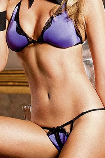 Baci комплект, фиолетово-черный Бюстик с миниатюрными трусиками