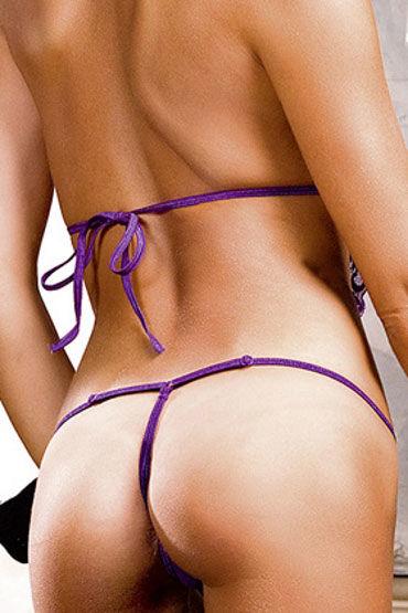 Baci боди, фиолетовое С V-образным вырезом