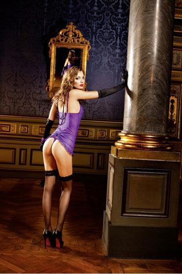 Baci мини-платье, фиолетовое С подвязками