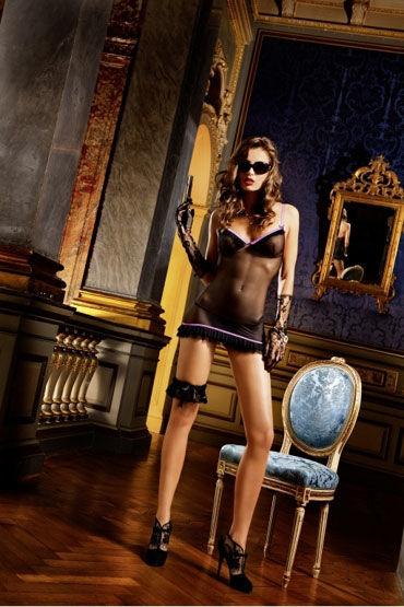 Baci мини-платье, черное Из прозрачного материала