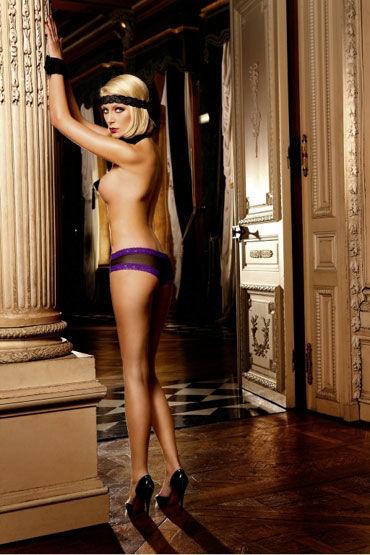 Baci трусики, черно-фиолетовые Подчеркивающие фигуру